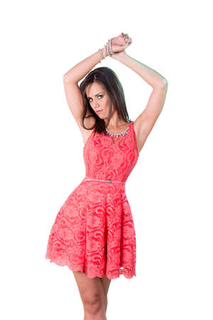 prety: Fashion prety girl mini skirt Stock Photo