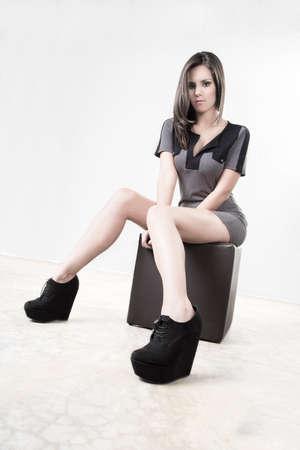 Sit fashion prety girl