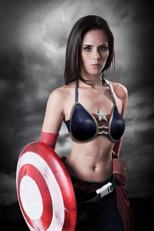 melissa: Captain America Girl