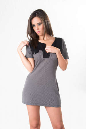 Fashion pretty girl mini dress