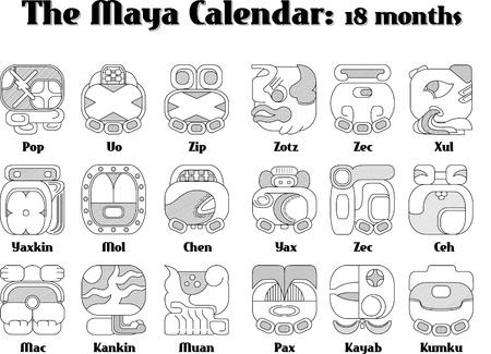 maya calendar Stock Vector - 11408743