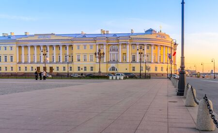 synod: The buildings of the Senate and Synod in St Petersburg in Russia