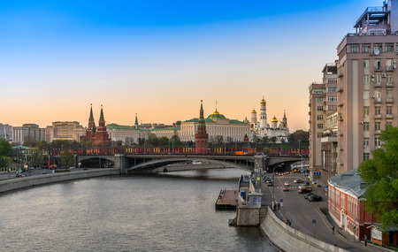 patriarchal: The Moscow Kremlin from the Patriarchal bridge