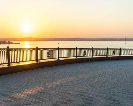 embankment: On the embankment of  summer evening