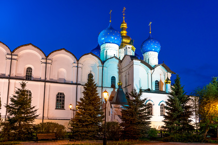 annunciation: Cathedral of the Annunciation in Kazan Kremlin Stock Photo