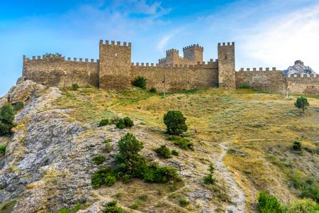 genoese: Ancient Genoese fortress in Sudak, Crimea, Russia