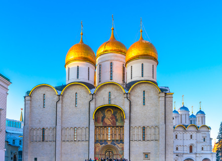 sobor: Assumption Cathedral  (Cathedral of the Dormition, Uspensky sobor) in Moscow Stock Photo