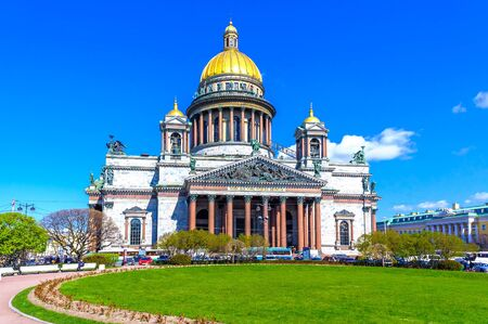 isaac s: St. Isaacs Cathedral in St. Petersburg, on a sunny day in May
