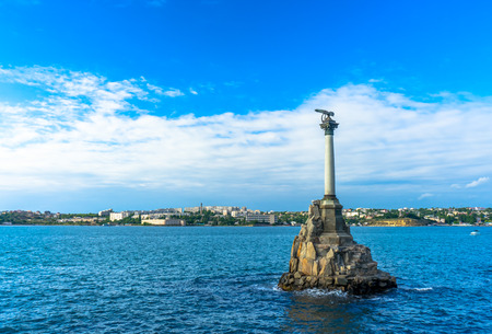 Monument to the Scuttled Ships in Sevastopol in Russia Stock Photo
