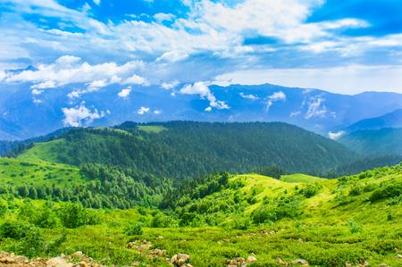 View of the Caucasus mountains around Krasnaya Polyana