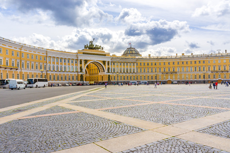 The Palace Square and the General Staff Building in St. Petersburg