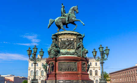 nikolay: St. Isaacs Square and the monument to Nicholas I (St. Petersburg), made by sculptor P. Kloddt in 1859