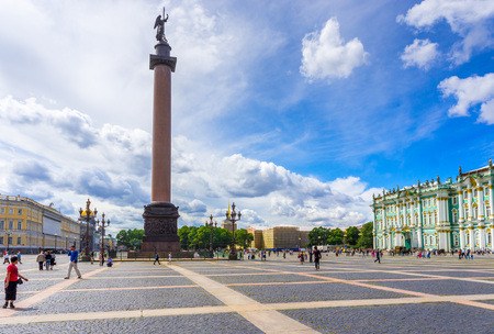 Palace Square and the Alexander Column in St. Petersburg