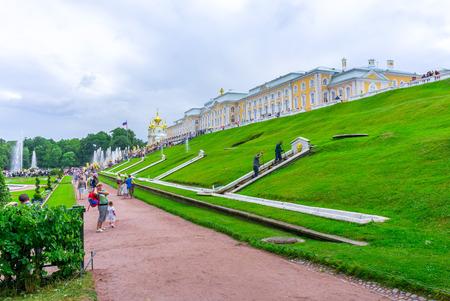 RUSSIA, Peterhof - JULY, 17, 2013. The Grand Palace in Peterhof