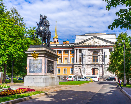 The monument to Peter I (St. Petersburg) made in the 18th century near the Mikhailovsky Castle