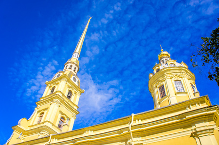 The spire of the Peter and Paul Cathedral in St. Petersburg