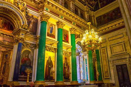 RUSSIA, Saint-Petersburg - JULY, 20, 2013. Interiors of St. Isaacs Cathedral