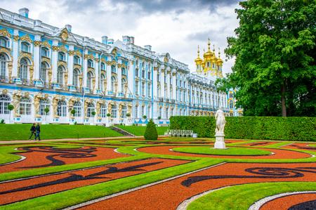 pushkin: RUSSIA, Tsarskoe Selo - JULY, 20, 2013. Catherine Palace in Tsarskoye Selo
