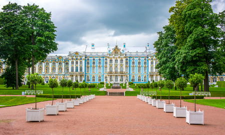 peter the great: RUSSIA, Tsarskoe Selo - JULY, 20, 2013. Catherine Palace in Tsarskoe Selo in St. Petersburg Editorial