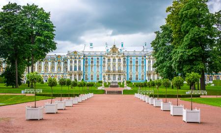 RUSSIA, Tsarskoe Selo - JULY, 20, 2013. Catherine Palace in Tsarskoe Selo in St. Petersburg Editorial