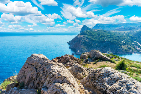 Cape George (Kuron) in Balaklava, in the Crimea, in Russia. View from the fortress Cembalo
