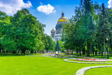 St. Isaac's Cathedral in St. Petersburg in summer, Russia