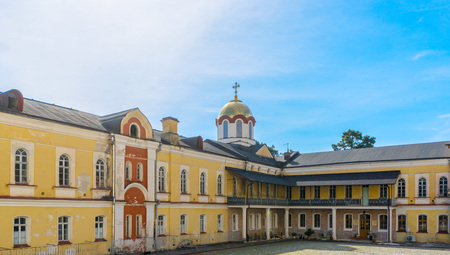 The inner courtyard of the monastery in New Athos in Abkhazia