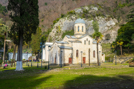 Temple of St. Simon the Cananite in New Athos in Abkhazia Stock Photo