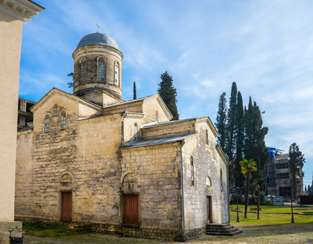 Temple of St. Simon the Cananite in New Athos in Abkhazia Imagens