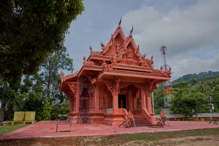 carved stone: Carved stone temple in Thailand