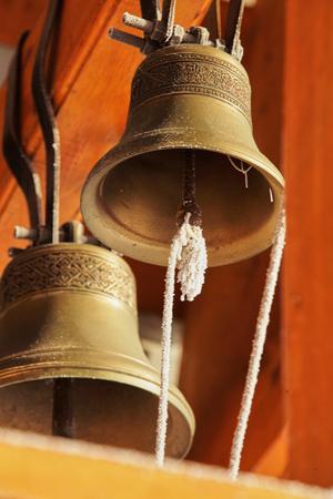 bell bronze bell: A small bronze bell