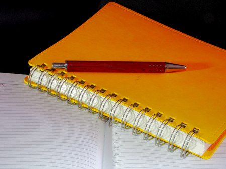 Everyday necessary set for a business man with pen notepad and notebook