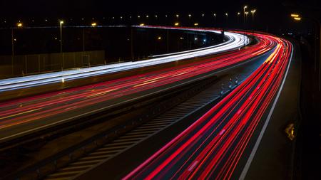 Highway, long exposure 16:9 ratio. 版權商用圖片