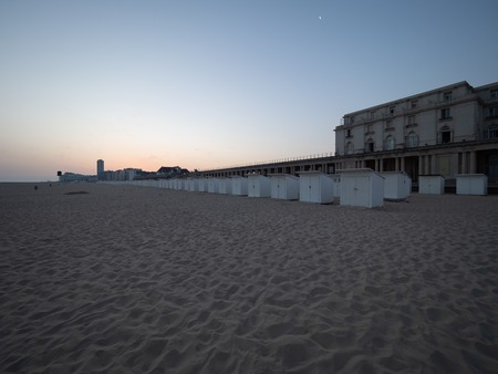 The beach of Ostend at sunrise.