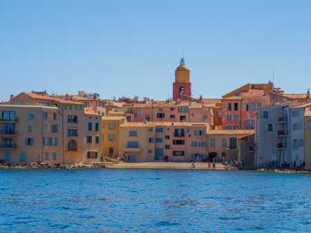 An overview of the town of Saint Tropez.
