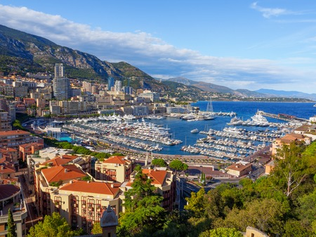 A view of Port Hercule and its surrounding area in Monaco. Reklamní fotografie