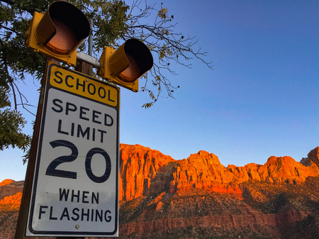 School speed limit.