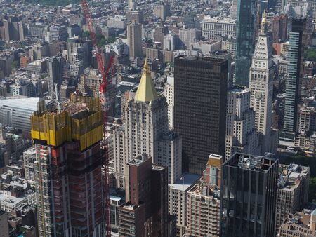 High angle view of midtown Manhattan.