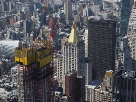 High angle view of midtown Manhattan. 스톡 콘텐츠 - 138473332