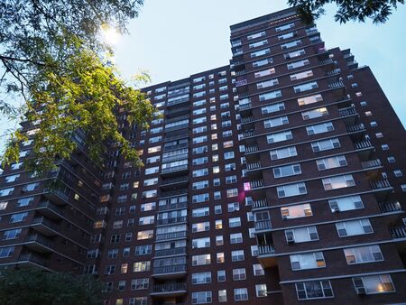 New York, USA - June 2, 2019: Image of the apartment buildings also known as Penn South located in the Chelsea neighborhood of Manhattan.