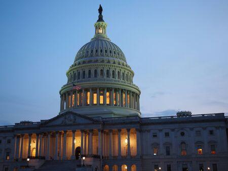 Le Capitole à Washington DC par une nuit d'été.