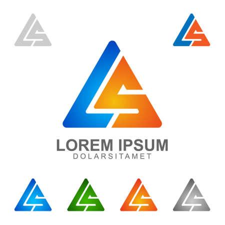 Litera L, litery S, LS, litera l S wektor logo projektu Logo