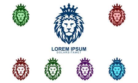 lion logo, lion king vetor logo design