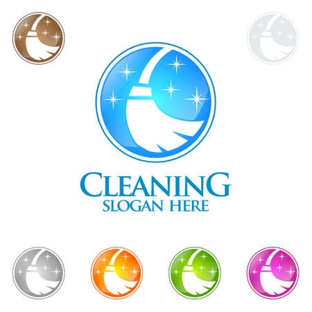 Cleaning Service Vector Logo Design.
