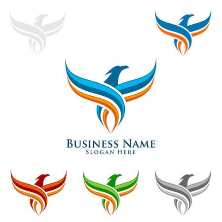 Eagle Logo, vector Wild eagle Bird Falcon Hawk isolated on a white background.