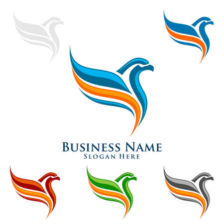 Eagle Logo, vector Wild eagle Bird Falcon Hawk isolated on a white background. Banque d'images - 95860749