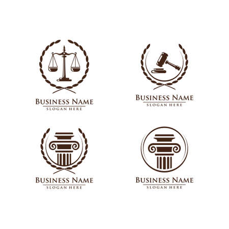 Law and Attorney logo, elegant Law and Attorney Firm vector Logo Design