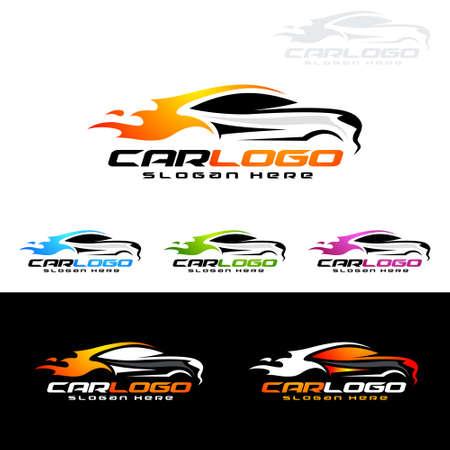 Auto auto-logo voor sportwagens, huur, wassen of monteur