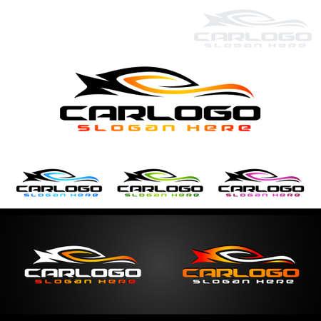 Auto Car Logo for Sport Cars, Rent, wash or Mechanic Illustration