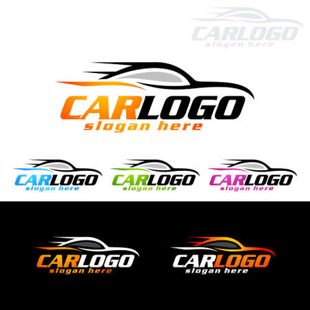Auto Car Logo for Sport Cars, Rent, wash or Mechanic Illusztráció